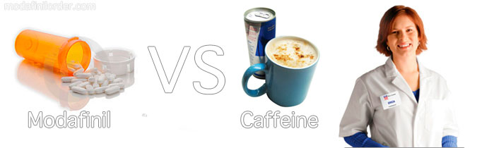 modafinil and caffeine
