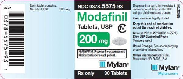 modafinil 200mg back cover